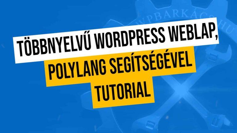 Tobbnyelvu Wordpress Weblap Polylang Segitsegevel Tutorial