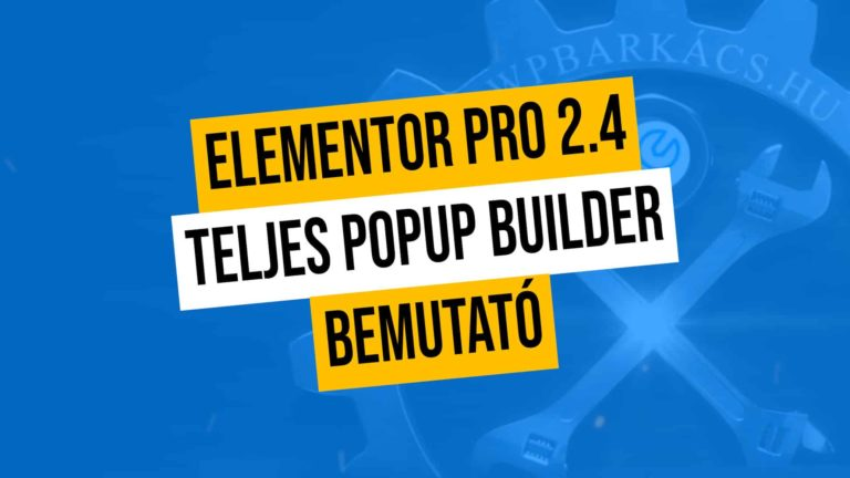 Elementor Pro Popup Builder Bemutato