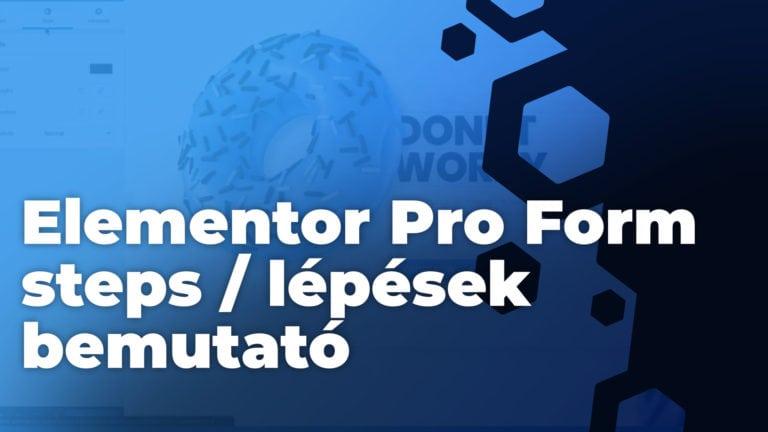 Elementor Pro Form Steps Lepesek Bemutato