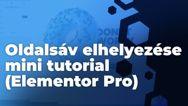 Oldalsav elhelyezese mini tutorial Elementor Pro