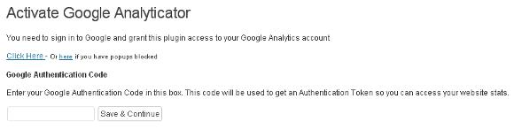 Az új Google Analyticator beállítása