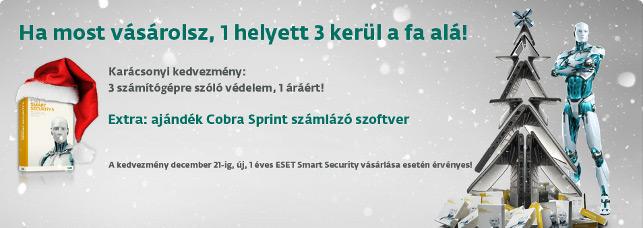ESET Smart Security karácsonyi akció